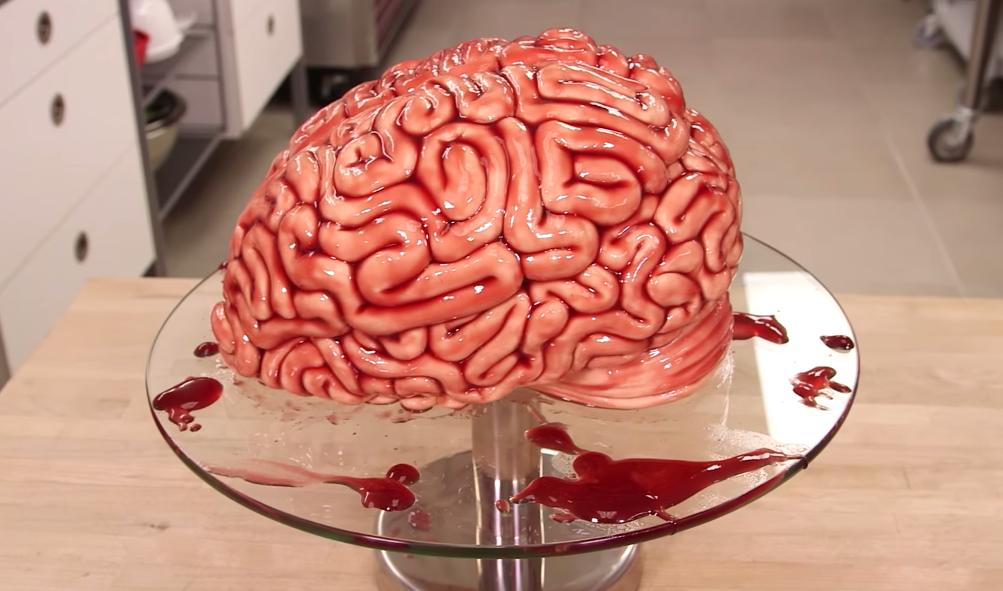 der ultimative halloween kuchen der brain cake. Black Bedroom Furniture Sets. Home Design Ideas
