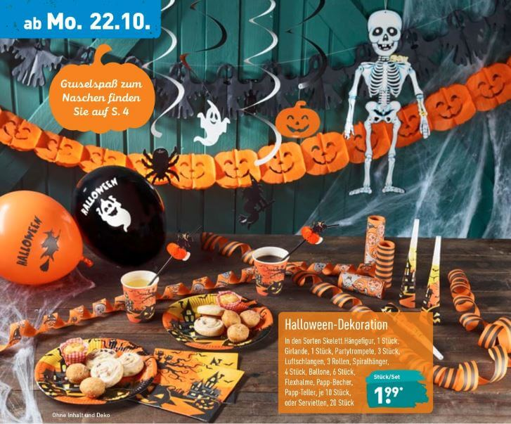 Spuktakulär Günstig Halloween Angebote Bei Netto Lidl Aldi