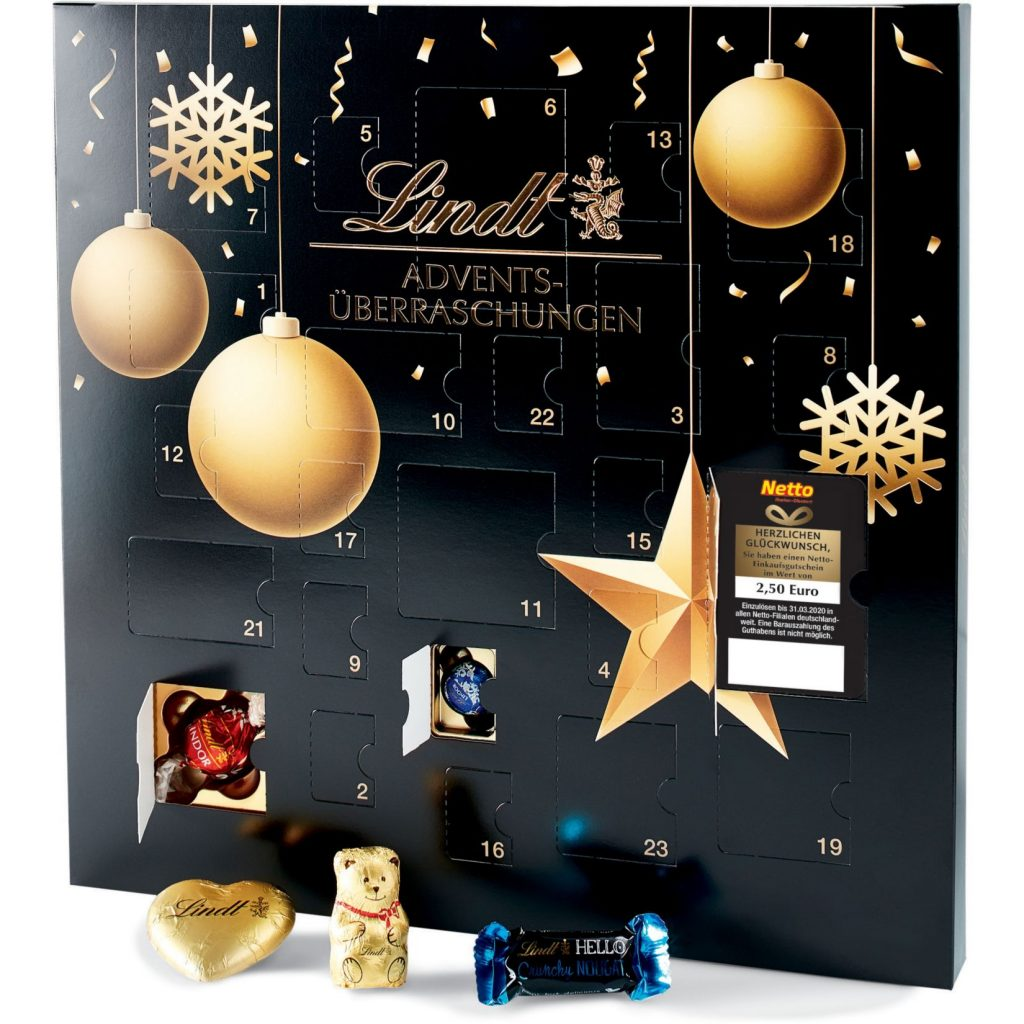 adventskalender mit gutscheinen 2019 bei aldi netto md. Black Bedroom Furniture Sets. Home Design Ideas