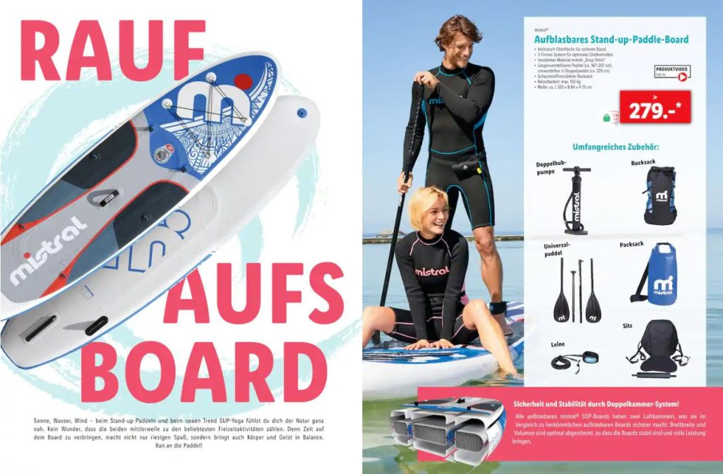 SUP Board bei Lidl im Angebot