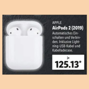 Apple AirPods 2 Lidl