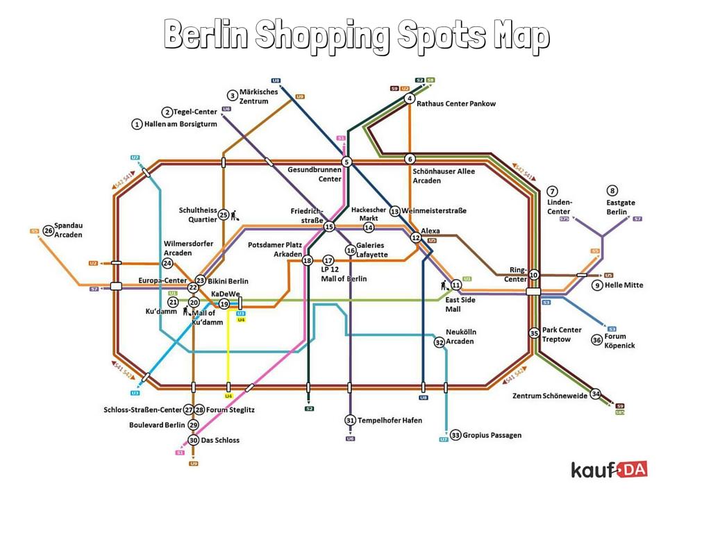 berlin shopping spots map. Black Bedroom Furniture Sets. Home Design Ideas
