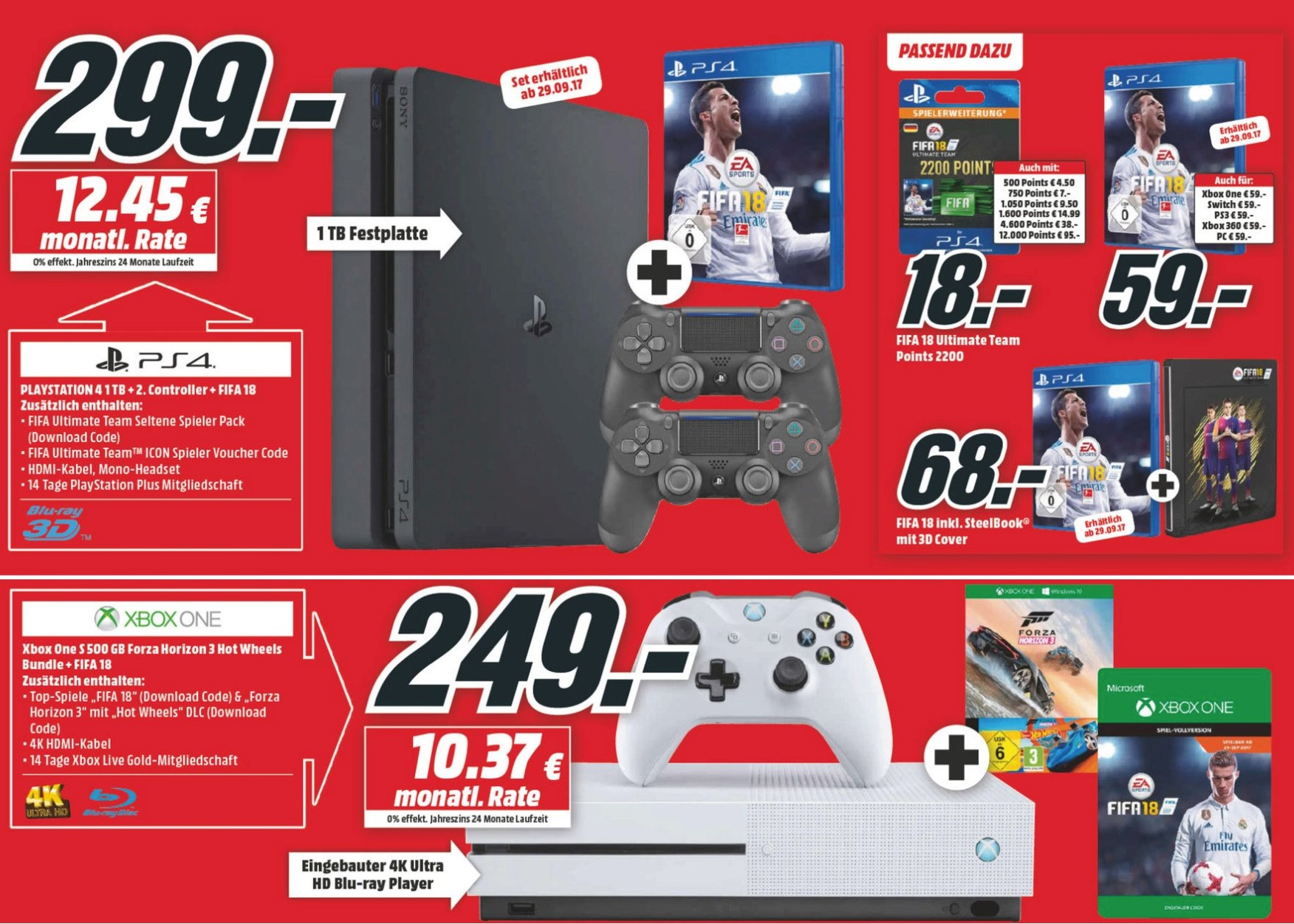 media markt prospekt kw 38 39 fifa 18 im konsolen bundle. Black Bedroom Furniture Sets. Home Design Ideas
