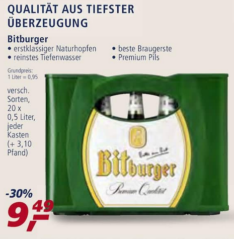 Real Bier Angebot