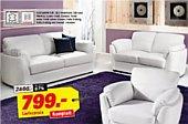 3 teilige sitzganitur aus leder couch und ledersofa bei. Black Bedroom Furniture Sets. Home Design Ideas